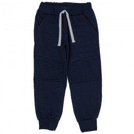 calca jogger infantil masculina em recortes marinho 5320