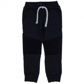 calca jogger infantil masculina em recortes preta 5320
