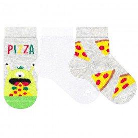 meia infantil menino kit 3 pecas pizza 036 041 01 6385