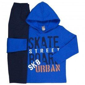 conjunto infantil masculino de moletom skate street royal marinho mk669 7594