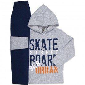 conjunto infantil masculino de moletom skate street mescla marinho mk669 7596