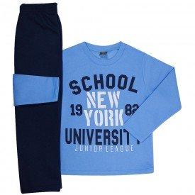 conjunto infantil masculino de moletom school azul mediomarinho mk670 7597