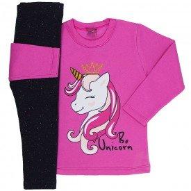 conjunto infantil menina unicorn chicletepreto mk164 7507