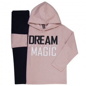 conjunto infantil feminino dream magic rosa cha preto mk260 7542