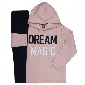 conjunto infantil feminino dream magic rosa cha preto mk260 7542