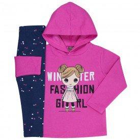 conjunto infantil menina winter chiclete marinho mk163 7505
