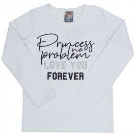 blusa infantil menina love forever branco mk170 7530