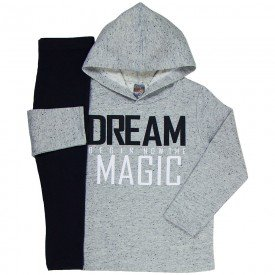 conjunto infantil feminino dream magic mescla preto mk260 7541