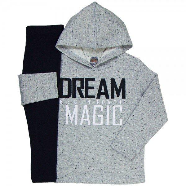 conjunto infantil feminino dream magic mescla preto mk260 7541