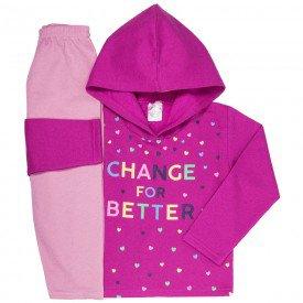 conjunto de inverno infantil feminino change ppink chiclete 4402 k4402pin