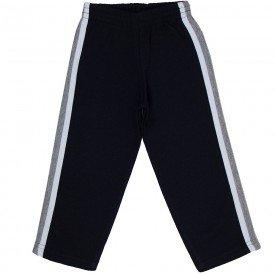 calca infantil masculina de moletom galao sobreposta preto branco mescla mk677 7620