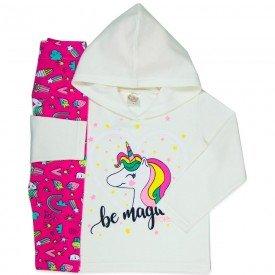 conjunto infantil feminino be magical perola unicornio 4404 k 4404 per
