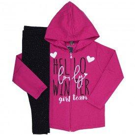 conjunto infantil menina winter pink preto mk259 7538