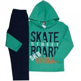 conjunto infantil masculino de moletom skate street verde marinho mk669 7595