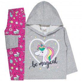abrigo de frio infantil feminino be magical mescla unicornio 4404 k4404mes