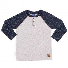 camiseta infantil masculina meia malha jet mescla marinho 6315 8226