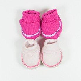 kit 2 pares de meia de bebe menina pink e rosa claro sir 13 3