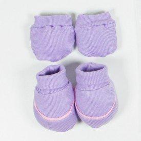 kit par de meia e luva de bebe menina lilas sir 21
