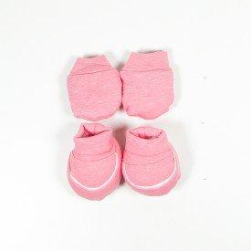 kit par de meia e luva de bebe menina rosa sir 20