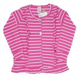 cardigan infantil menina ribana pink 4003 7750