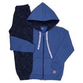 conjunto infantil masculino jaqueta matelasse e calca jogger indigo marinho 6304 8193