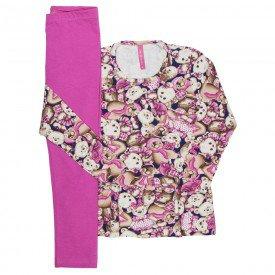 conjunto infantil feminino ursinhos pink 51810