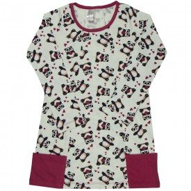 vestido infantil menina meia malha panda 1314 sh 1314 pan
