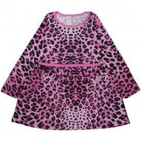 vestido infantil animal print pink 1312 sh 1312 pin