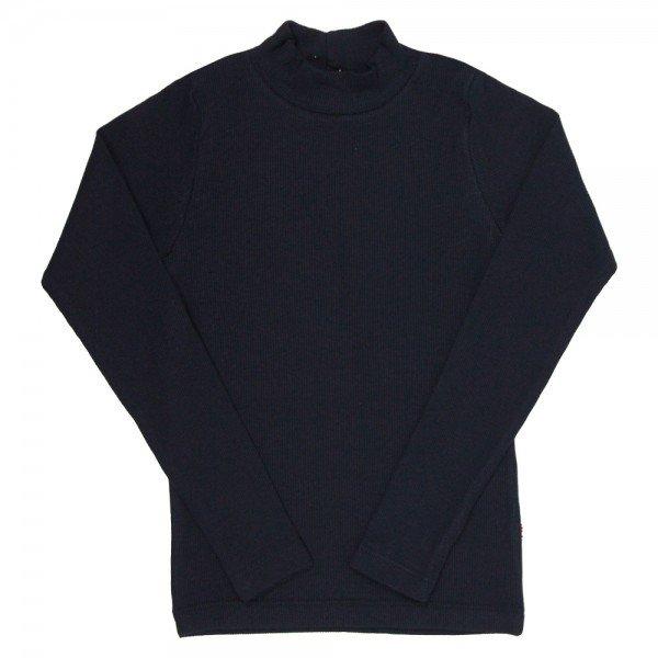 camiseta infantil basica ribana canelada unissex preta 1007 7297