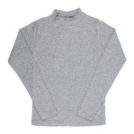 camiseta infantil basica ribana canelada unissex mescla medio 1007