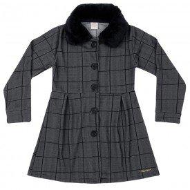 casaco infantil menina winter xadrez preto 6586 tm 6586 xad
