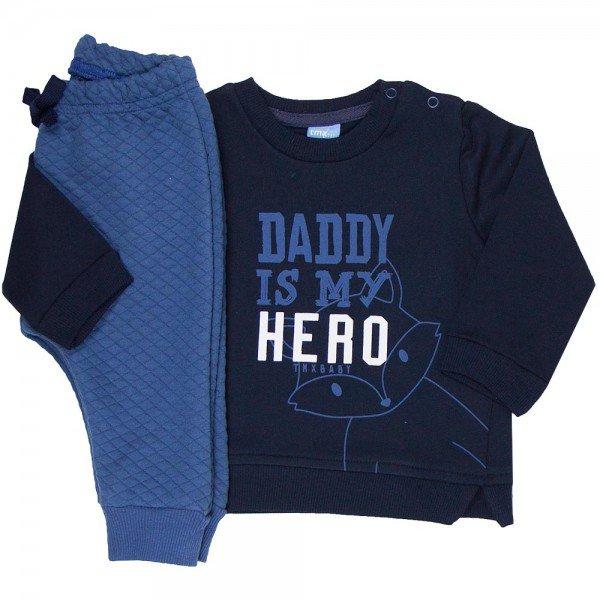 conjunto bebe masculino daddy hero marinho indigo 4072 7998