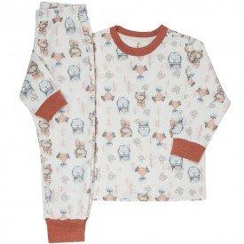 pijama infantil menina moletom raposa urso mf10207 8312