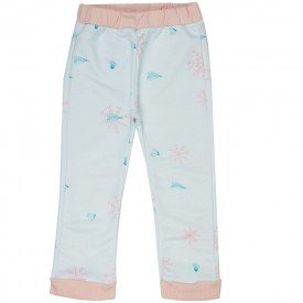 calca infantil menina moletom off rosa f10266 8306