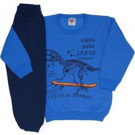 conjunto infantil masculino moletom azul palacio e calca marinho skate 4165d 8317
