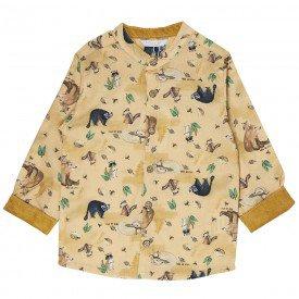 camisa social infantil masculina gola portuguesa mostarda m0935 8310 1