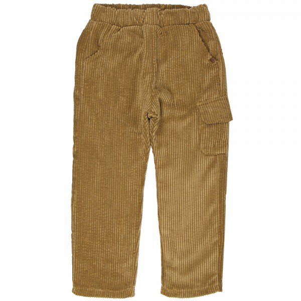 calca infantil de veludo e cotele forrada brush camel mo925 8304 2