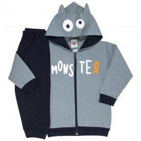 conjunto infantil masculino jaqueta monster monumento e calca preta 4164 7066