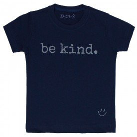 t shirt infantil unissex marinho be kind mescla c 01 01 02 8567
