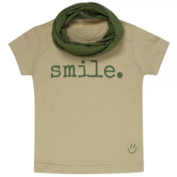 t shirt infantil unissex fendi smile gola verde militar c 03 03 05 g 05 8572