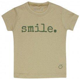 t shirt infantil unissex fendi smile verde militar c 03 03 05 8573