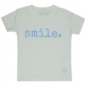 t shirt infantil unissex off white smile azul acqua c 04 03 08 8579