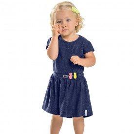 vestido infantil feminino marinho com glitter 104342 8815