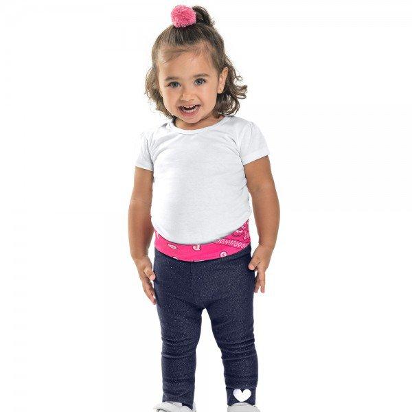legging infantil feminina cotton jeans com glitter 104345 8817