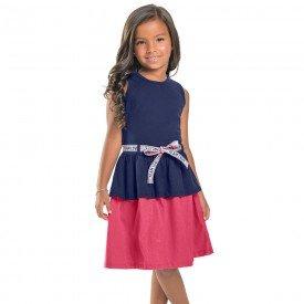 vestido infantil feminino team love marinho 104361 8821