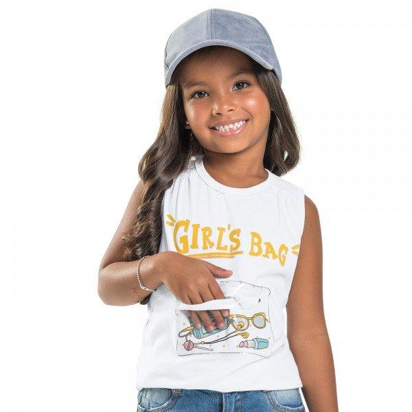 regata infantil feminina girl s bag branca 104360 8820