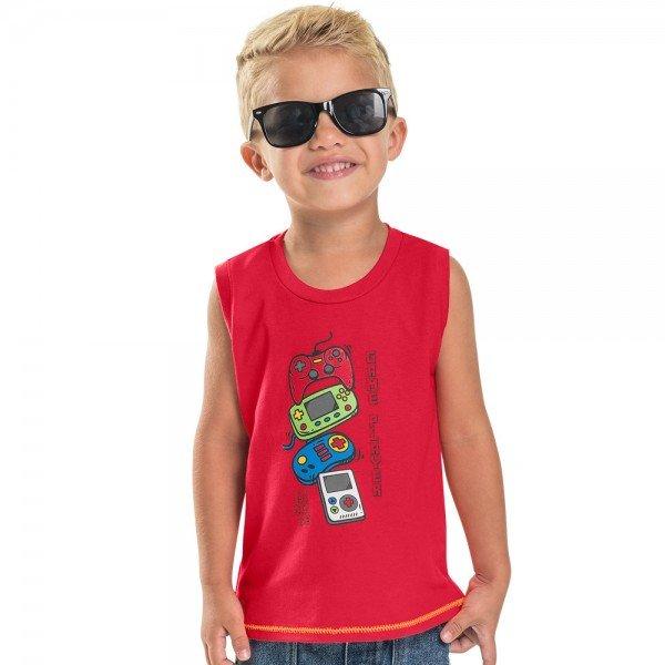 regata machao infantil masculina game coral 104399 8840