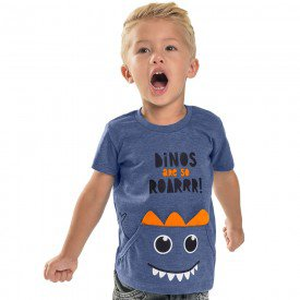 camiseta infantil masculina dinos royal 104404 8844