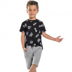 conjunto infantil masculino stay cool preto mescla 104414 8859