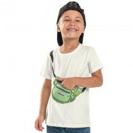 camiseta infantil masculina meia malha branca 104419 8862
